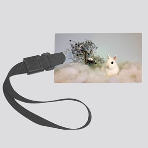 Hotot In Snow Large Luggage Tag