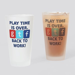 "A Social Media Critic's ""Play Time"" Drinking Glass"