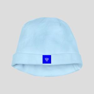 Blue Chanukah Menorah Designer baby hat
