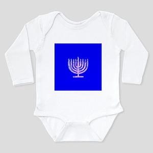 Blue Chanukah Menorah Designer Body Suit