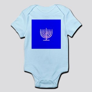 Blue Chanukah Menorah Designer Body Suit