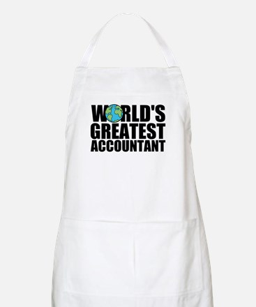 World's Greatest Accountant Light Apron