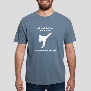 Black Belt Refusal White T-Shirt