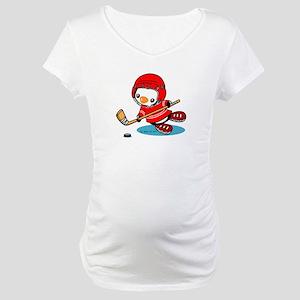 Ice Hockey Penguin (R) Maternity T-Shirt
