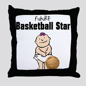 Baby Girl Basketball Star Nursery Pillow