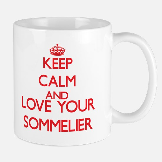 Keep Calm and love your Sommelier Mugs