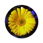 Yellow Flower Christmas Ornament
