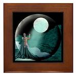 Lady Moon Eclipse Framed Tile