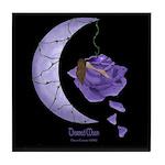 Thorned Moon Art Tile Coaster