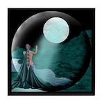 Lady Moon Eclipse Tile Coaster