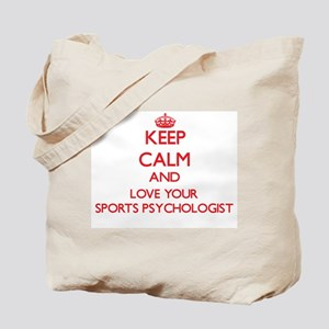 Keep Calm and love your Sports Psychologi Tote Bag