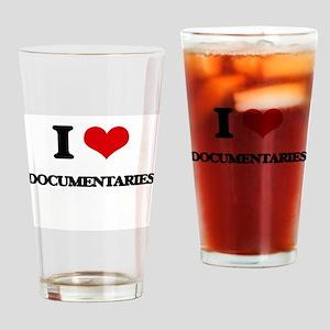 I Love Documentaries Drinking Glass