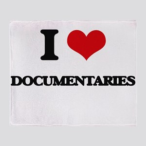 I Love Documentaries Throw Blanket