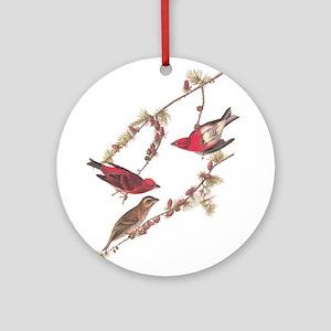 Audubon Purple Finch Ornament (Round)