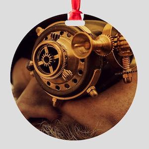 Steam punk pirate Round Ornament