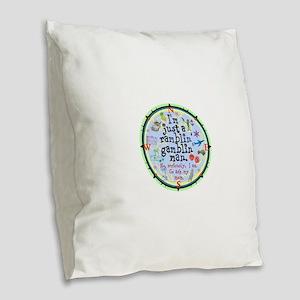 Ramblin Gamblin Man Burlap Throw Pillow