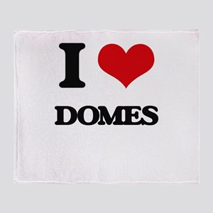 I love Domes Throw Blanket
