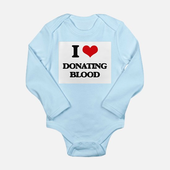 I Love Donating Blood Body Suit