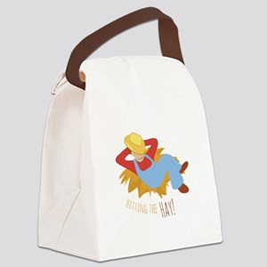 Hitting Hay Canvas Lunch Bag