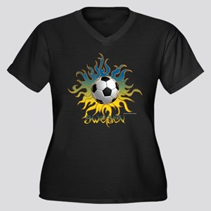 Soccer Tribal Sun Plus Size T-Shirt
