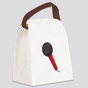 Singing Microphone Canvas Lunch Bag