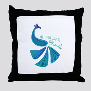 Bloomed Peacock Throw Pillow