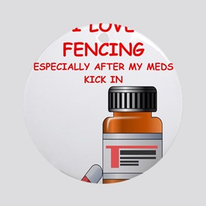 i love fencing Ornament (Round)
