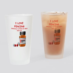 i love fencing Drinking Glass