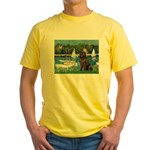 Sailboats & Newfoundland Yellow T-Shirt