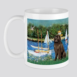 Sailboats & Newfoundland Mug