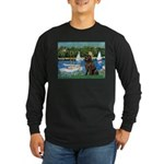 Sailboats & Newfoundland Long Sleeve Dark T-Shirt