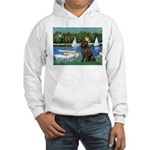 Sailboats & Newfoundland Hooded Sweatshirt