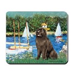 Sailboats & Newfoundland Mousepad