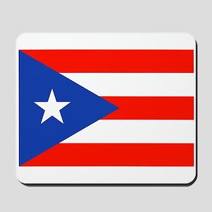 Puerto Rican Boricua Flag Bandera Orgull Mousepad