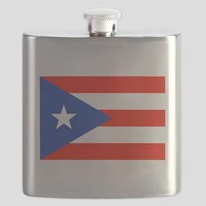Puerto Rican Boricua Flag Bandera Orgullo Flask