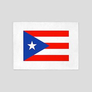 Puerto Rican Boricua Flag Bandera O 5'x7'Area Rug