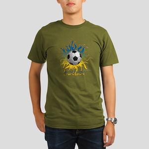 Soccer Tribal Sun Organic Colored T-Shirt