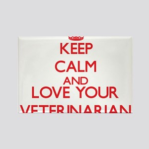 Keep Calm and love your Veterinarian Magnets