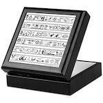 Mystery Hieroglyphs Keepsake Box