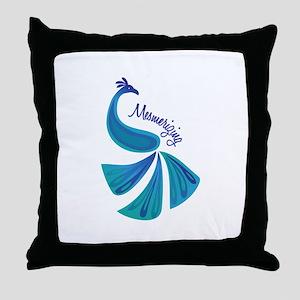 Mesmerizing Peacock Throw Pillow