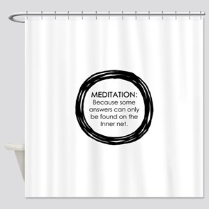 Meditation Inner Net Enso Quote Shower Curtain