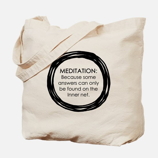 Meditation Inner Net Enso Quote Tote Bag
