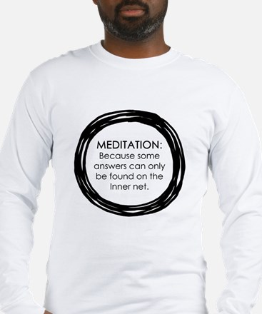 Meditation Inner Net Enso Quote Long Sleeve T-Shir