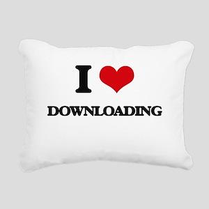 I Love Downloading Rectangular Canvas Pillow