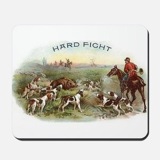 Vintage Boar Hunt Mousepad