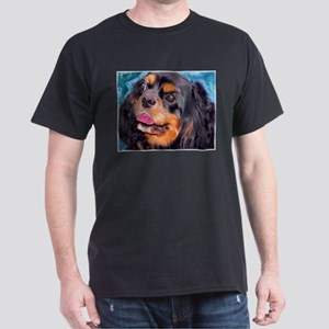 Black & Tan Cavalier King Cha Dark T-Shirt
