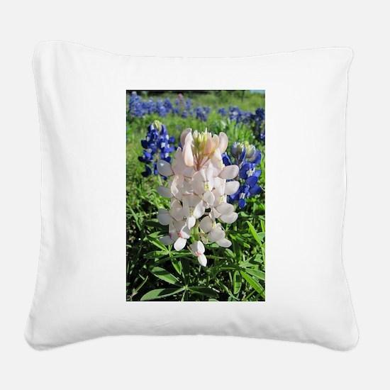 Bluebonnets and Pinkbonnet Square Canvas Pillow