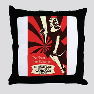 The Pause that refreshes Throw Pillow