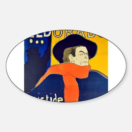 Eldorado art by Toulouse-Lautrec Decal
