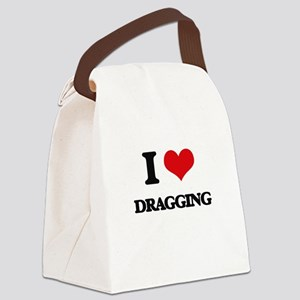 I Love Dragging Canvas Lunch Bag
